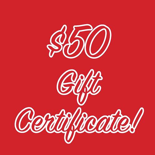 Little Red Hen Gift Certificate