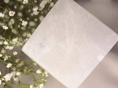 Selenite Standing Corner Cube
