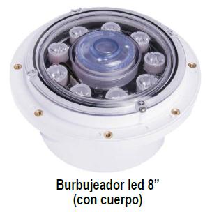 "Burbujeadores Multicolor LED 8""  PANDA"