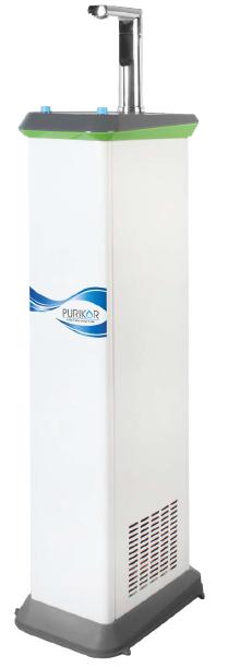 Sistema dispensador con bebedero de agua fría. PURIKOR serie LILI