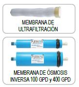 Membranas para sistemas de ultrafiltración y ósmosis inversa Residencial PURIKOR