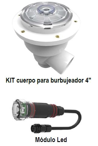 "Burbujeadores Multicolor LED 4"" PANDA"
