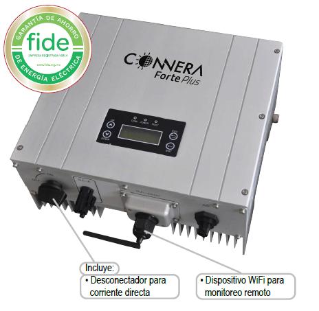 Inversores sistemas fotovoltaicos  interconexión a red CONNERA serie FORTE