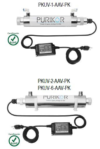 Sistema de Desinfección con luz ultravioleta Serie Classic PURIKOR