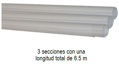 Tubos de aluminio marca PANDA