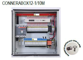 Caja de conexión y protección combinada marca CONNERA serie COMBINER BOX