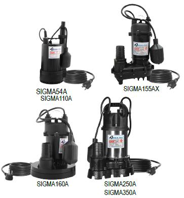 Bomba Sumergible para Achique AQUAPAK serie SIGMA