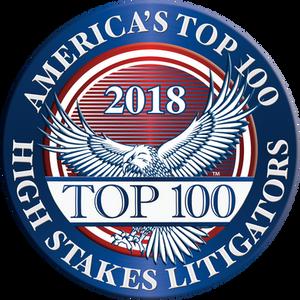 ED MOOMJIAN SELECTED AS ONE OF AMERICA'S TOP 100 HIGH STAKES LITIGATORS®
