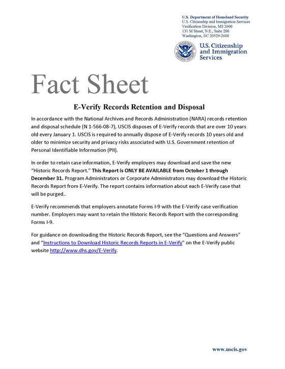 Employers: Download Your E-Verify Records or Risk Losing Them At the End of the 2015