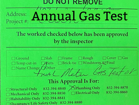 In need of a Gas Test? Texas Plumbing can help.