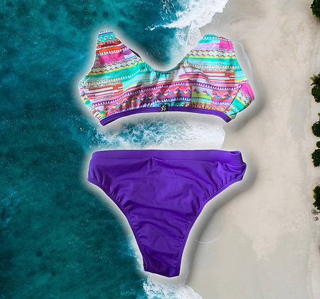 Retro Marmid Hippie 🌺( braga violeta)