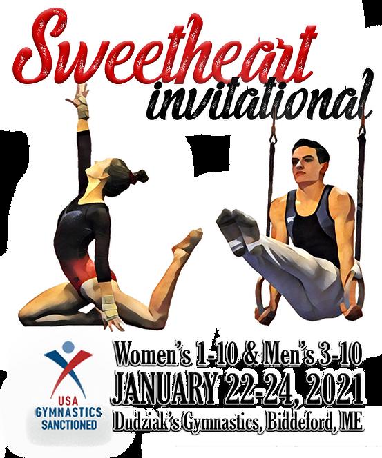Sweetheart 2021 invitationaI Postcard -