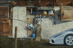 WENGEN, Acryl und Oel auf Holz, 136x208cm