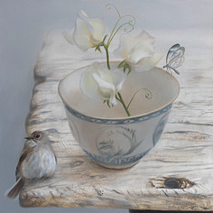 'Daily Bowl' (Glasswing Butterfly 2) - SOLD