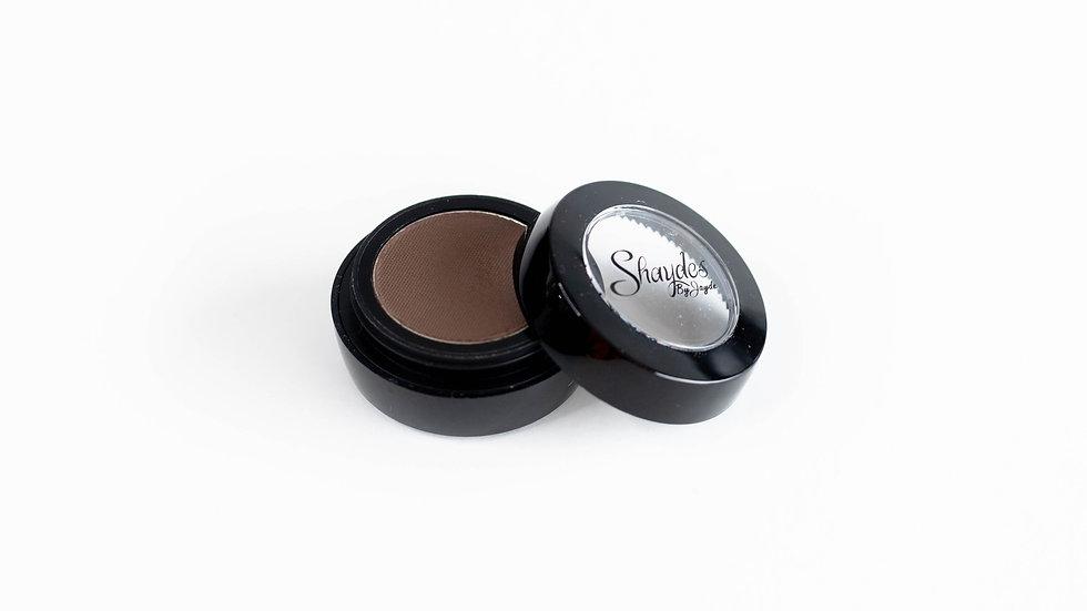 Dark brunette brow shadow