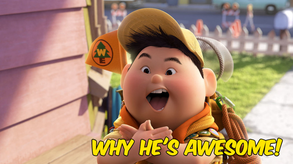 WHY HE'S AWESOME: Russell from Pixar's Up