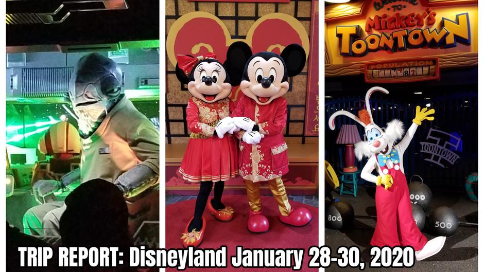 TRIP REPORT: Disneyland Resort - January 28-30, 2020