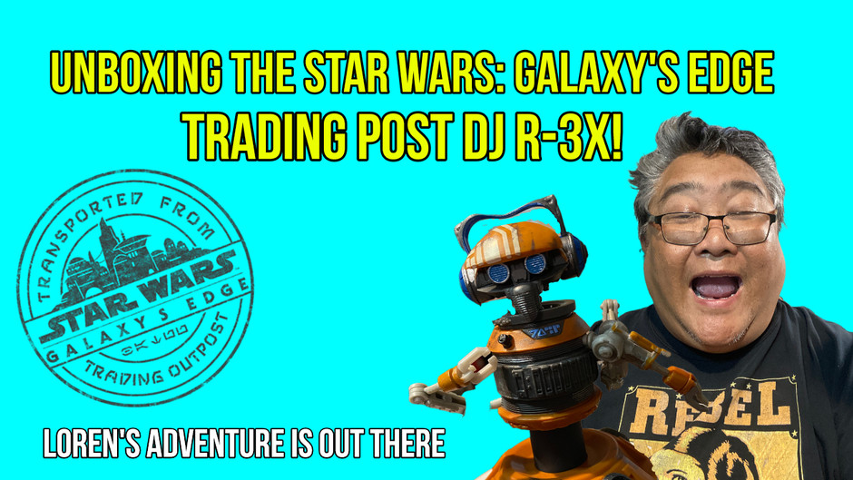 Unboxing The Star Wars: Galaxy's Edge Trading Outpost Black Series DJ R-3X (Rex) Action Figure