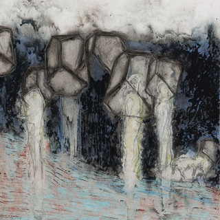 Three Figures With a Dog I