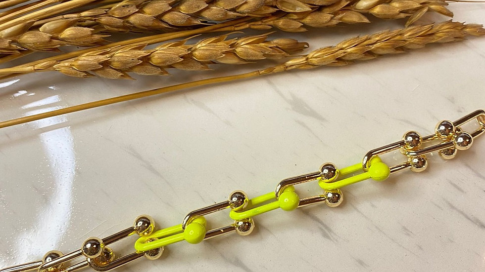 Neon Sarı Tiffany Bileklik