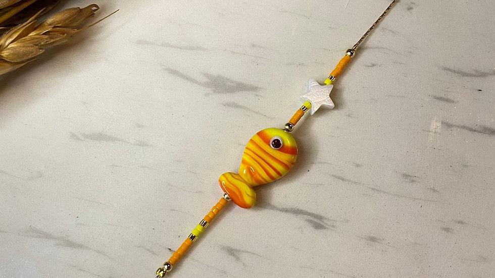 Sarı Cam Balık Bileklik