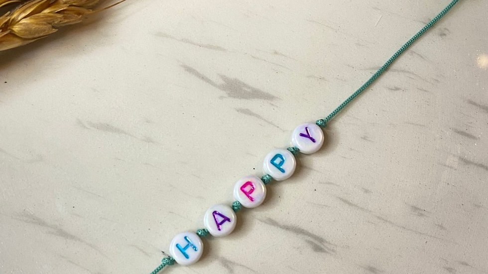 Happy İp Bileklik