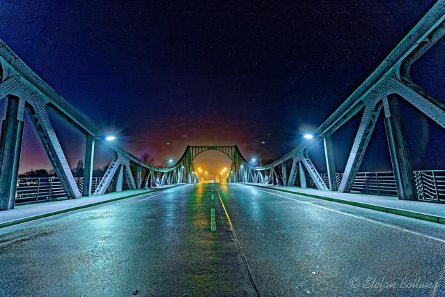 Glienickerbrücke mit Blick Richtung Potsdam