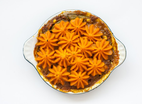 Curried* Sweet Potato Shepherd's Pie – A new twist on a classic