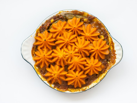 Curried* Sweet Potato Shepherd's Pie – A new twist on a classic