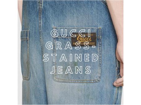 Gucci i jego poplamione jeansy za ponad 1000$
