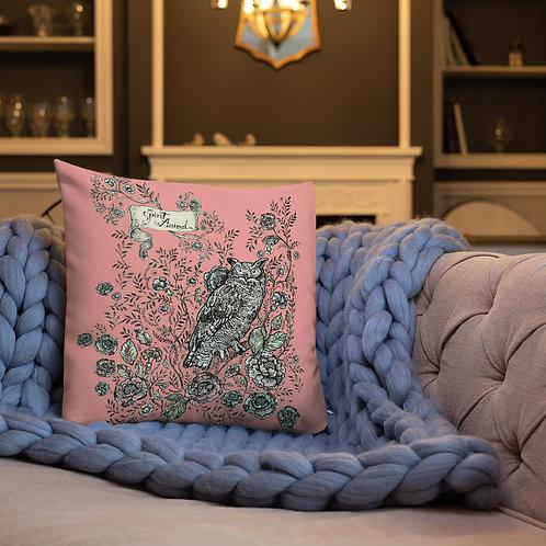 Spirit Animal: Owl_Premium Pillow (pink)
