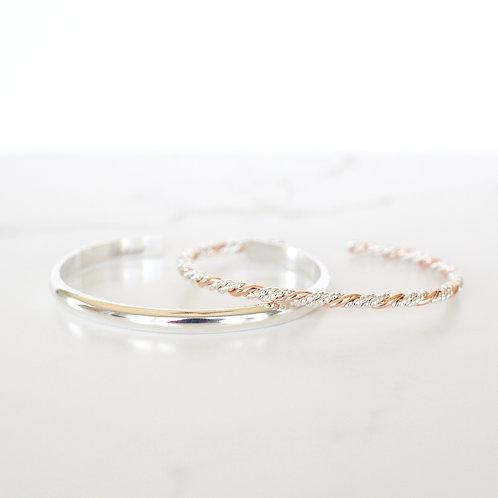 Vow Silver/Rose Gold & Clarity Silver Stack