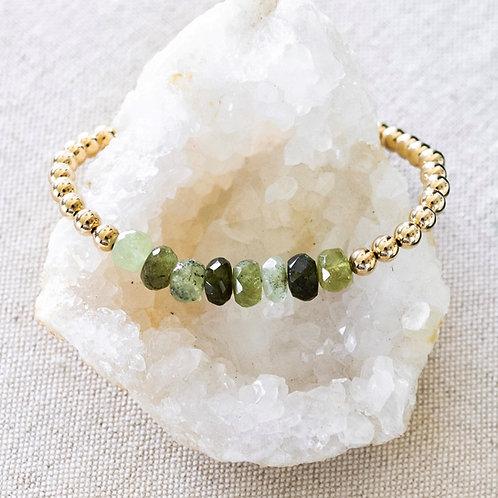 Hope Bracelet Green Garnet