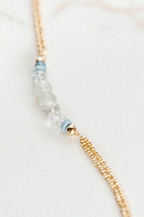 Hope Chain Bracelet Multi Gemstone