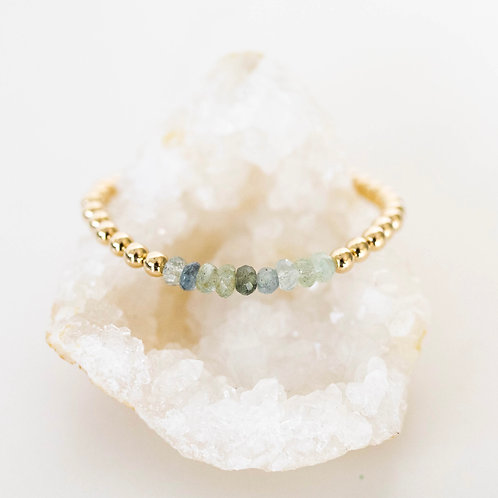 Hope Bracelet Moss Aquamarine