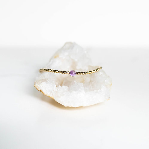 Hope Single Gemstone Bracelet Amethyst