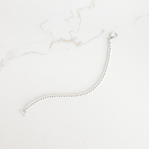 Tiny Beaded Sterling Silver