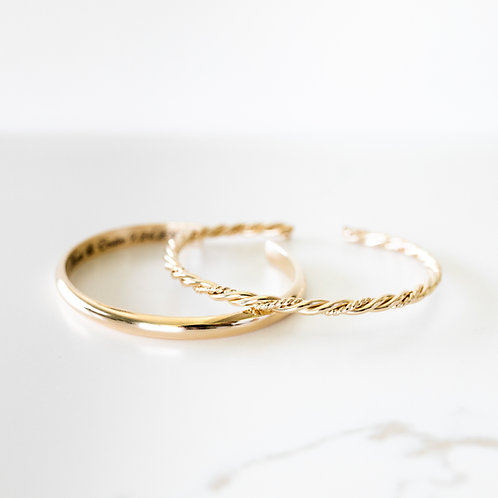Vow & Clarity Stack  Gold