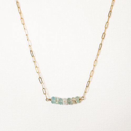 Hope Gemstone Necklace Gold