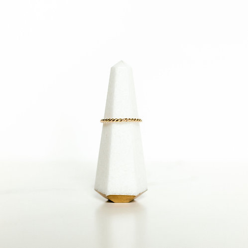 Entwine Stack Ring Gold