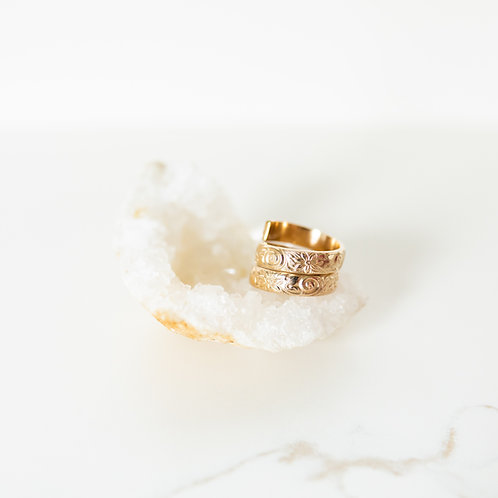 Daisy Double Portion Gold Ring