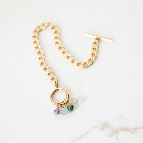 Hope Gemstone Toggle Bracelet Gold
