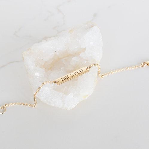 Dainty Name ID Bracelet Gold