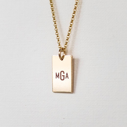 Classic Monogram Necklace Gold