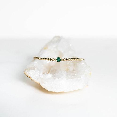 Hope Single Gemstone Bracelet Emerald