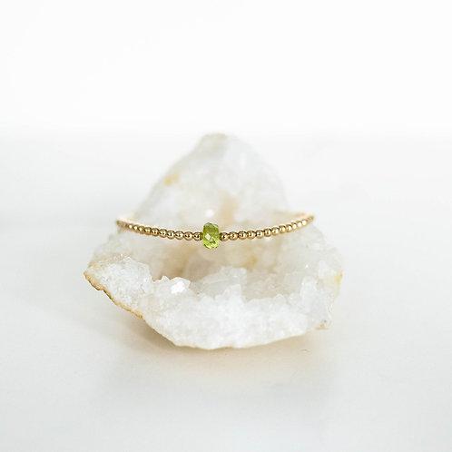 Hope Single Gemstone Bracelet Peridot