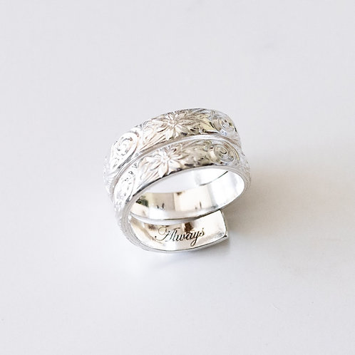 Daisy Double Portion Sterling Silver Ring