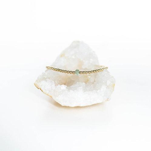 Hope Single Gemstone Bracelet Aquamarine