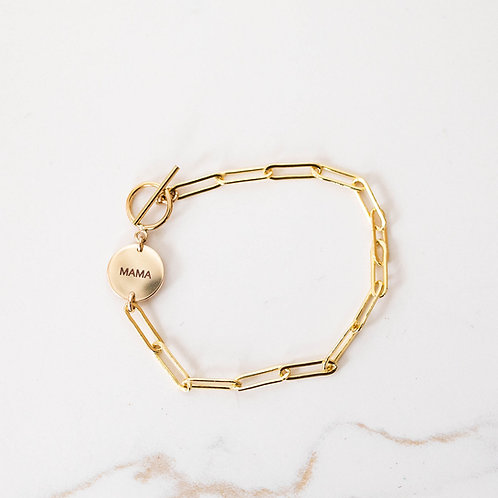 Beloved Link Bracelet Gold