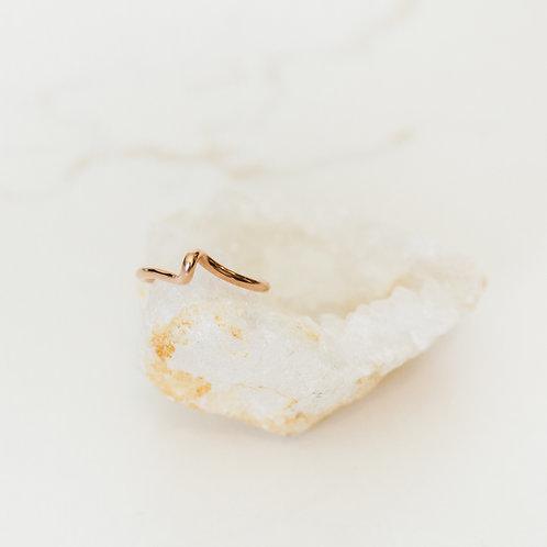 Wave Rose Gold Ring